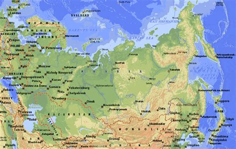 map russia maps of russia