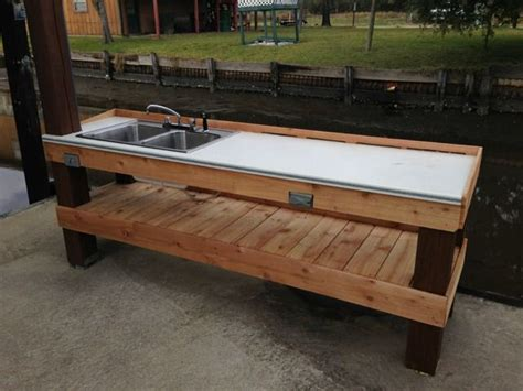 granite river outdoors fillet station table 37 fish cleaning station with sink mobile fish cleaning