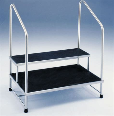 Stainless Steel Step Stool With Handrail by The Brewer Company Step Stool W Handrail 2 Step