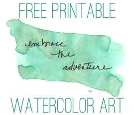 Free printable watercolor art print with one of my favorite