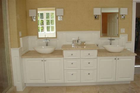 wainscoting bathroom vanity custom wainscoting bathroom picture ideas
