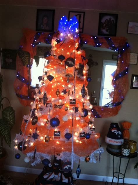 denver bronco christmas tree camerons man cave pinterest