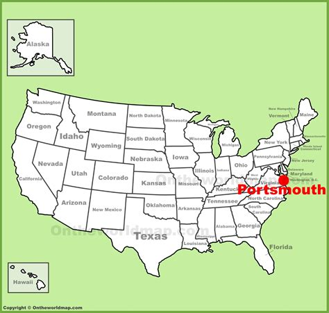portsmouth usa map portsmouth location on the u s map