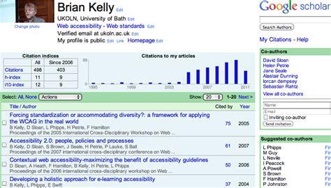 thoughts  google scholar citations uk web focus