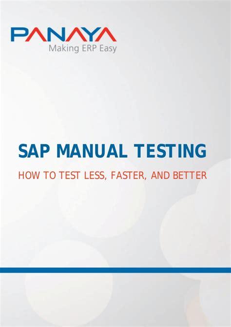 sap testing tutorial ppt sap manual testing