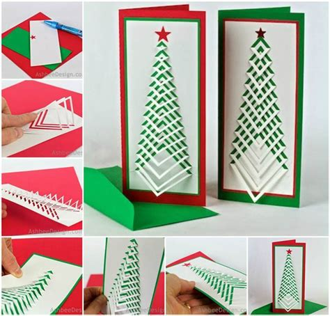 creative design ideas creative ideas diy chevron design christmas tree card