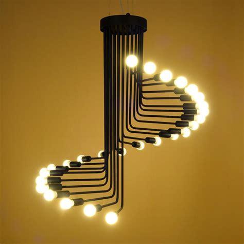 Online Get Cheap Glass Spiral Stairs Aliexpress Com Stairway Light Fixtures