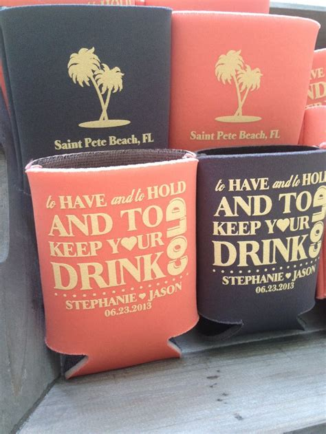Wedding Koozies by 23 Most Creative Wedding Favor Koozies Ideas For Your