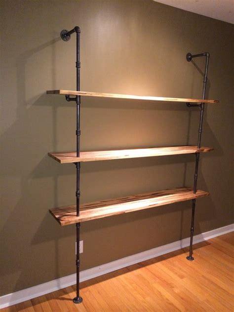 iron pipe maple shelving unit by seankub lumberjocks