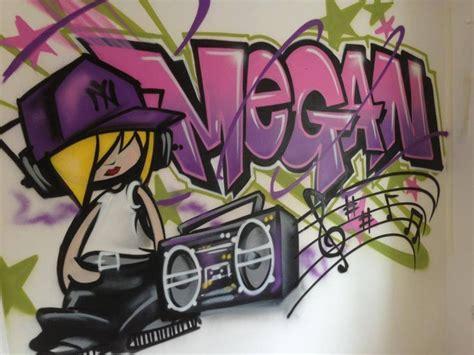 graffiti name on bedroom wall children teen kids bedroom graffiti mural
