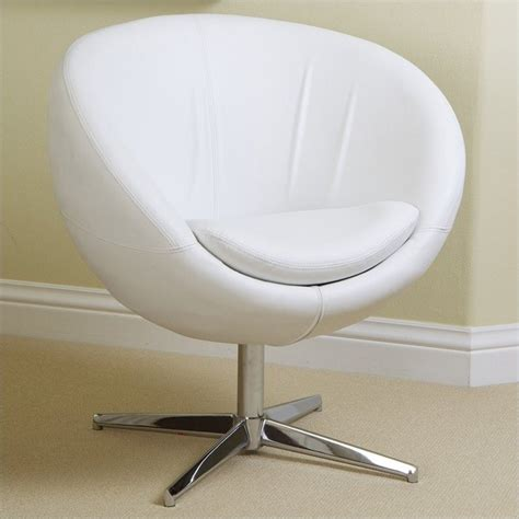 Dining Room Chairs On Wheels trent home daniel leather egg chair in white 896112cy
