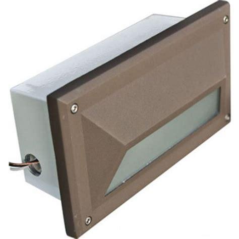 Recessed Step Lights Outdoor Filament Design Ashler 1 Light Bronze Outdoor Recessed Step Light Cli Dbm1119 The Home Depot