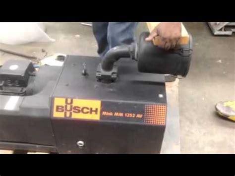 busch rotary claw vacuum busch mink rotary claw model mm 1252av 9 1hp motor