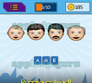 emojination: emojis baby, boy, man, old man answer game