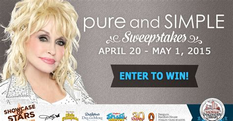 Dolly Parton Book Giveaway - dolly parton s pure and simple sweepstakes winner
