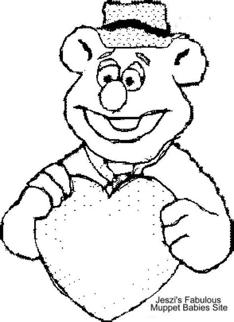 muppets fozzie bear coloring pages coloring pages