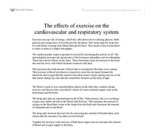 Exercise Essay Writing by The Effects Of Exercise On The Cardiovascular And Respiratory System Gcse Science Marked By