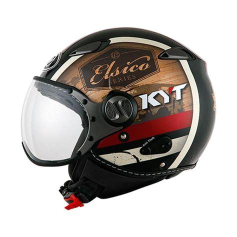 Helm Kyt Half Elsico Jual Kyt Elsico 4 Helm Half Black Doff