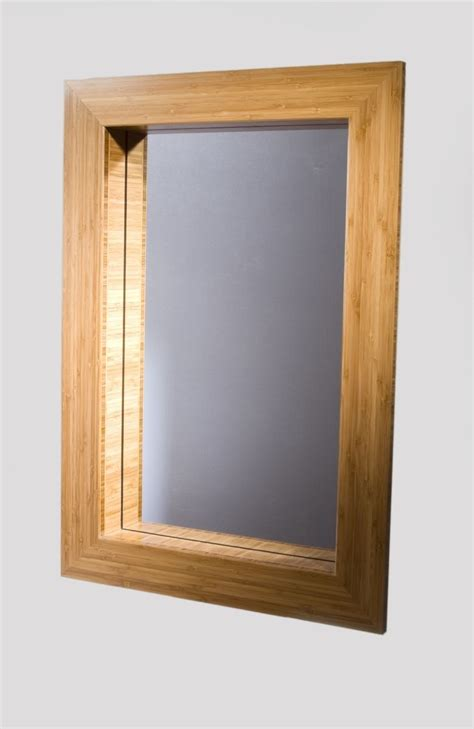Custom Mirror Frame In Bamboo By Studio Two Design And Frames For Bathroom Mirrors