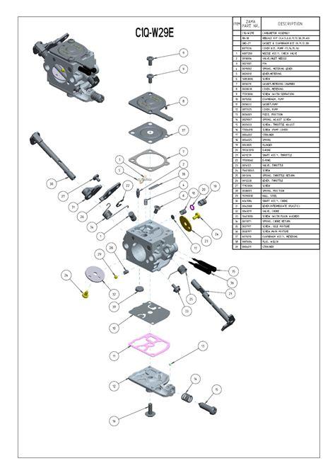 zama c1q carb diagram zama carburetor diagram c1q gallery how to guide and