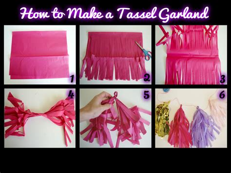 How To Make A Tissue Paper Tassel - tissue paper garland step by step how to