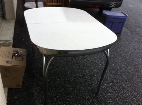 mid century kitchen table and chairs mid century chrome formica retro kitchen table w one leaf