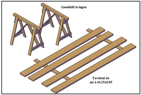 tavole da cantiere banco da cantiere per preparare i ferri e le gabbie per il