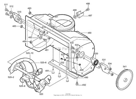 murray snowblower parts diagram murray 620301x4c single stage snow thrower 2000 parts