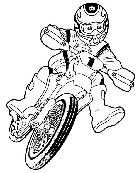 cartoon motorcycle coloring pages cartoon dirt bike pictures cliparts co