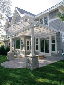 House With Pergola by Garden Structures Arts Amp Crafts Homes And The Revival