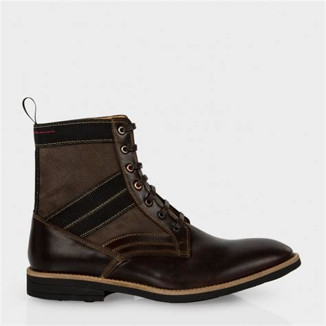 smith mens boots paul smith s brown leather and nubuck jules boots in