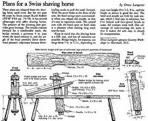 How To Make A Portable Shooting Bench - the joy of wood make a shaving horse from recycled wood