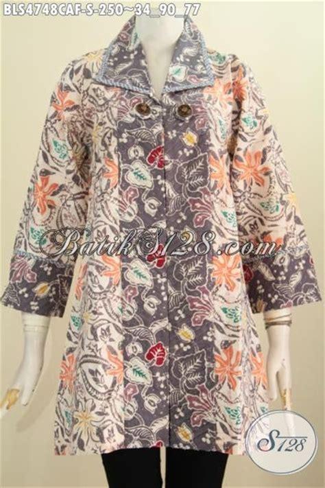 desain baju batik remaja putri blus batik batik motif bunga desain mewah dengan daleman