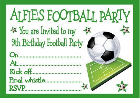 Personalised Invites Childrens Boys Football Birthday Party Invitations X 10 Ebay Football Invitation Template