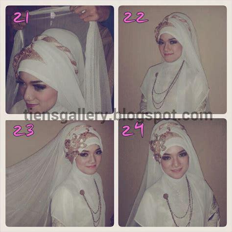 tutorial hijab pengantin 2014 cara memakai jilbab pengantin syar i cara memakai jilbab