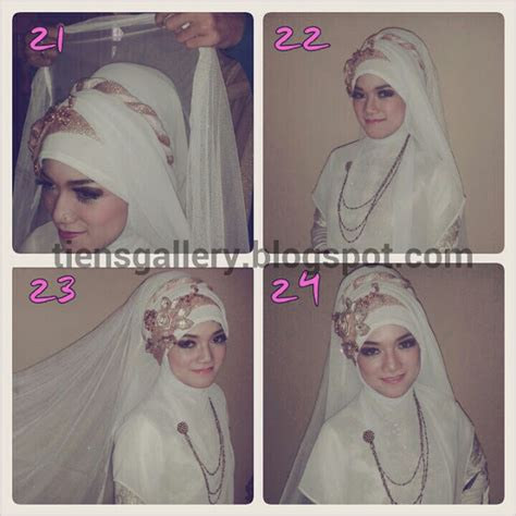 tutorial jilbab pesta syar i cara memakai jilbab pengantin syar i cara memakai jilbab