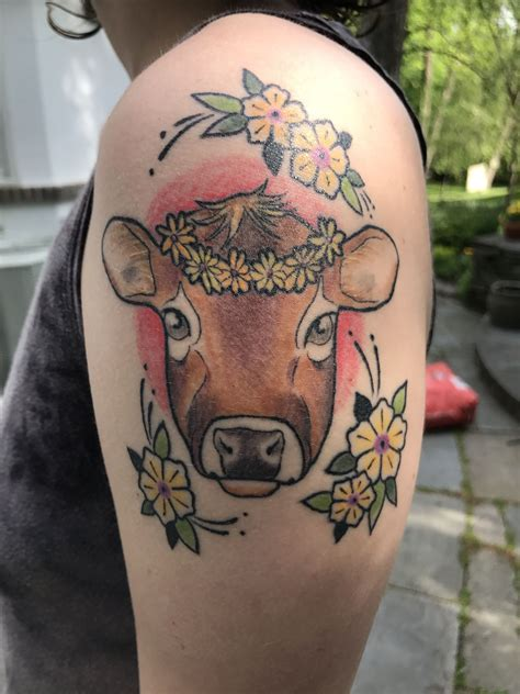 betty rose tattoo whimsical neo traditional cow artist betty