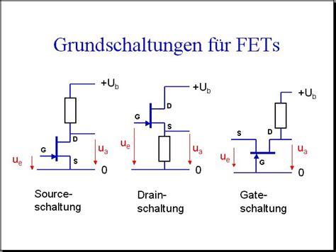 fet transistor grundschaltungen 13 schaltungen mit transistoren i