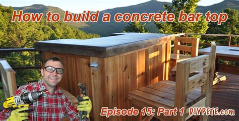 how to build a bar top counter how to build a patio bar with a concrete counter top