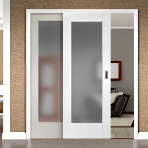 sliding doors easi slide op3 white pane sliding door system in
