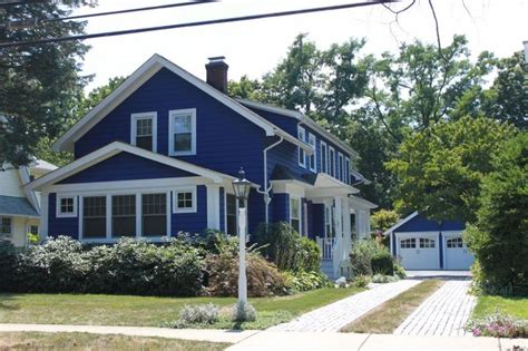 blue exterior color homes i
