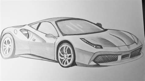 ferrari drawing dibujando el ferrari 488 gtb drawing the ferrari 488 gtb