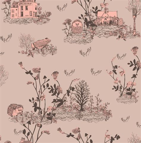 Girls White Bedroom Furniture childrens woodlands wallpaper pink white rabbit england