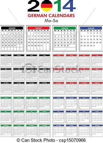 Calendario Aleman Clip De Vectores De Calendario 2014 Alem 225 N 4