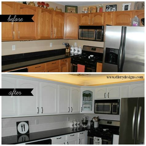 how to paint your kitchen cabinets white our diy kitchen remodel painting your cabinets white