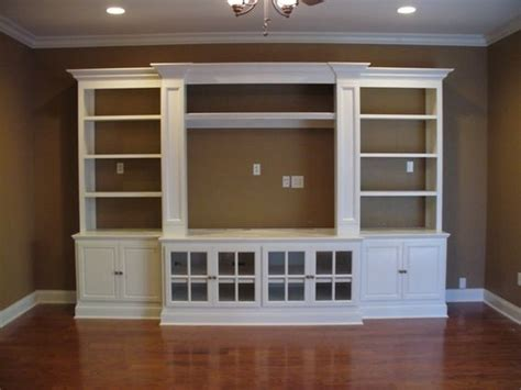 using ikea kitchen cabinets for entertainment center built in entertainment center using ikea hemne pieces 2