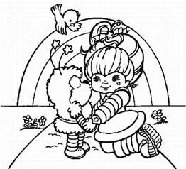 free printable color sheets coloring pages rainbow brite coloring home