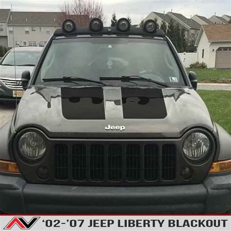 cool jeep liberty accessories jeep liberty kj blackout 02 07 alphavinyl