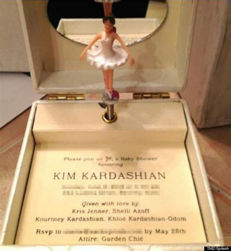 Kim Kardashian's Baby Shower Invite Is The Most Over The Top, Ridiculous Thing Ever (PICTURES)