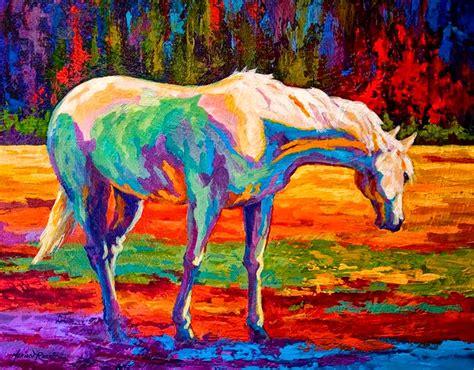 cuadros pintados a espatula cuadros pinturas oleos caballos pintados con espatula